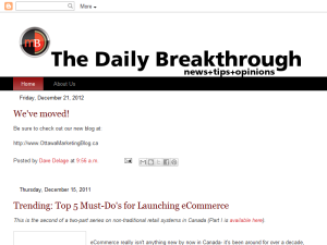 The Daily Breakthrough - Marketing News + Tips + Opinions Mighty Directory Web Directory