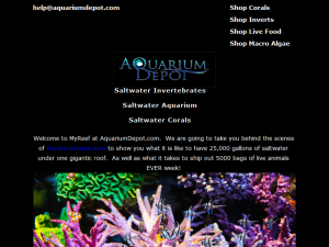 My Reef at Aquarium Depot Mighty Directory Web Directory
