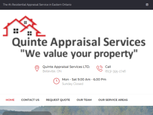 Quinte Appraisal Services LTD : Mighty Directory Web Directory