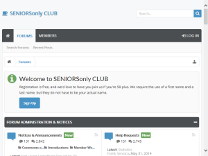 SENIORSonly Club Mighty Directory
