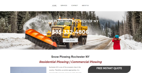 Rochester NY Snow Plowing Mighty Directory Web Directory