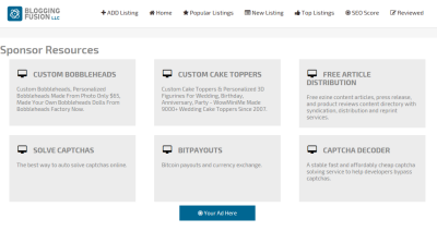 Footer Resources Advertising on Mighty Directory